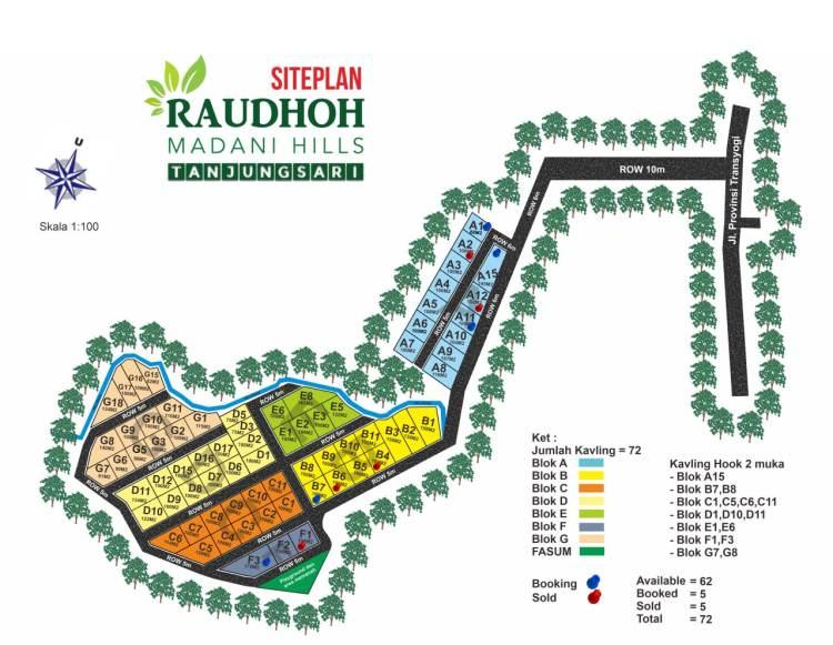 Raudhoh Madani Hills Site Plan