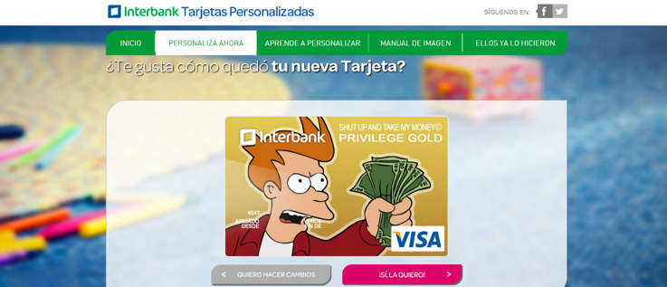 feb0ce252451 Superado los requisitos ya puedes subir tu imagen y seguir los pasos para personalizar  tu tarjeta. De esta manera ya podemos tener nuestra tarjeta con un ...