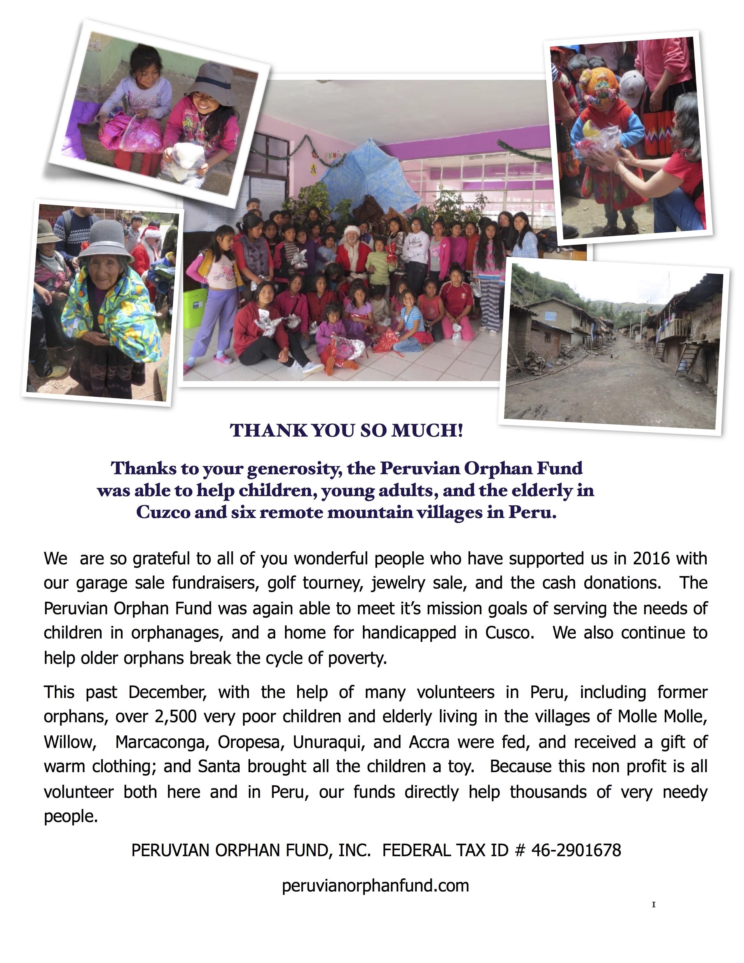 2016 Pofi Thank You Letter