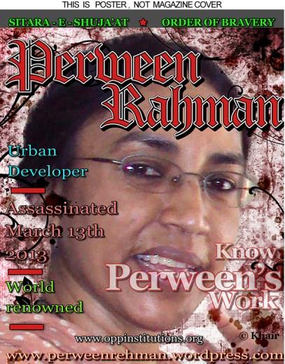 Perween Rehman poster WEB