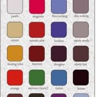 Katalog Bahan Kaos dan Warna Kain
