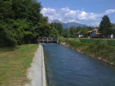 Roggia Grava, San Floreano di Buja a monte della piazza, Agosto 2012