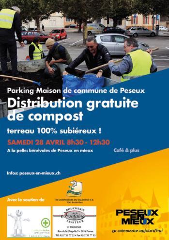 """Télécharger le flyer """"Distribution gratuite de compost par Peseux en mieux"""""""