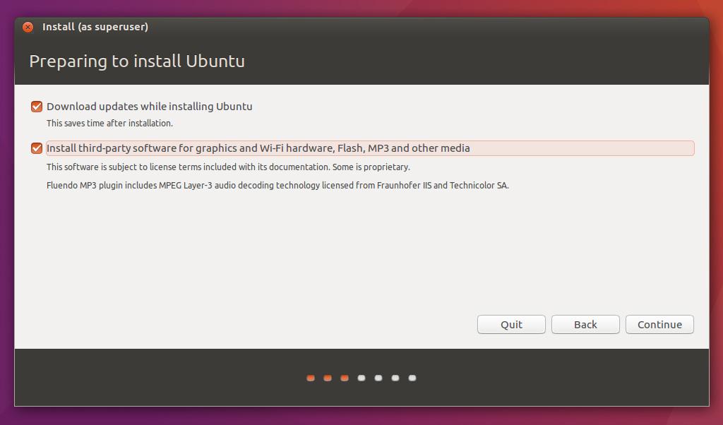 Ubuntu installation stuck on 'Preparing to install Ubuntu