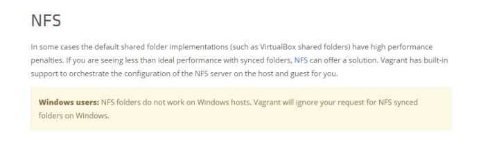 Vagrant on NFS on Windows