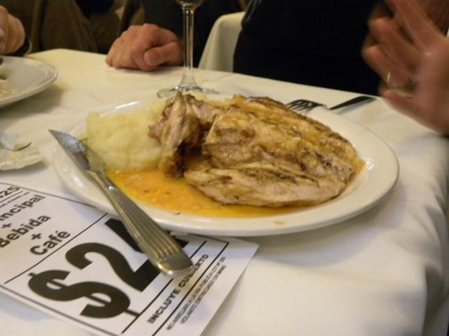 Argentina - Chicken and lots too much garlic garlic garlic
