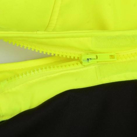 High visibility softshell jacket Pesso Palermo, yellow pessossafety.eu