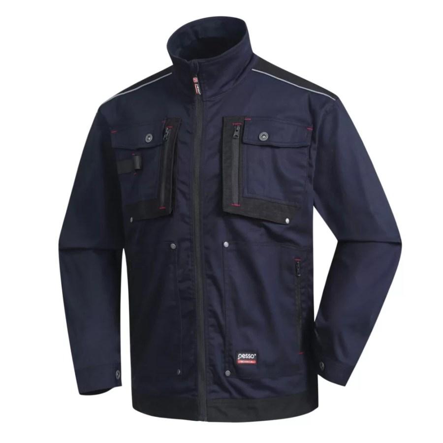 Workwear jacket Pesso Stretch 215, navy pessosafety.eu