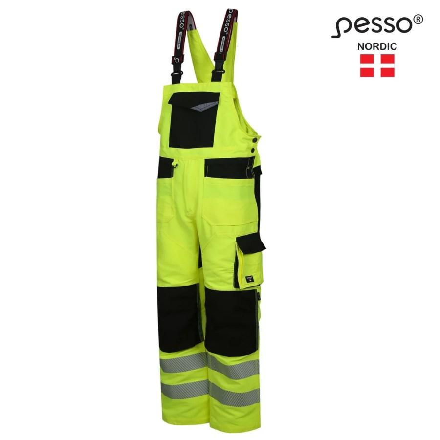 High Visibility bibpants Pesso Nordic Uranus Flexpro 135 pessosafety.eu