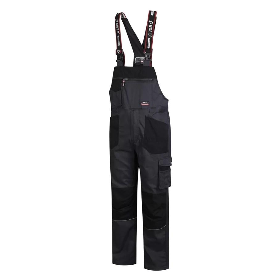 Workwear Bibpants Pesso Twill Stretch grey DPSTRETCHP pessosafety.eu