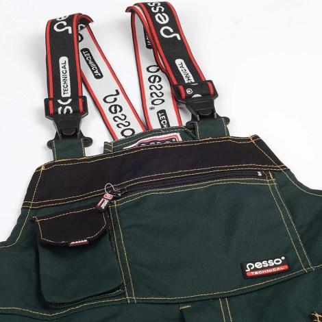 Workwear bibpants Pesso Canvas DPCZ, green pessosafety.eu