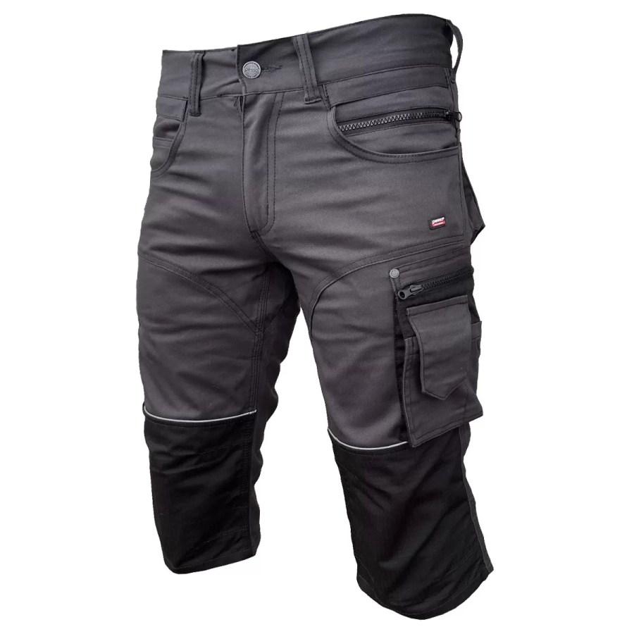 Workwear pirate trousers Pesso Stretch, grey pessosafety.eu