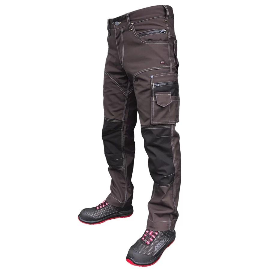 Workwear trousers Pesso KDRD, CVC Twill, brownpessosafety.eu Pesso workwear