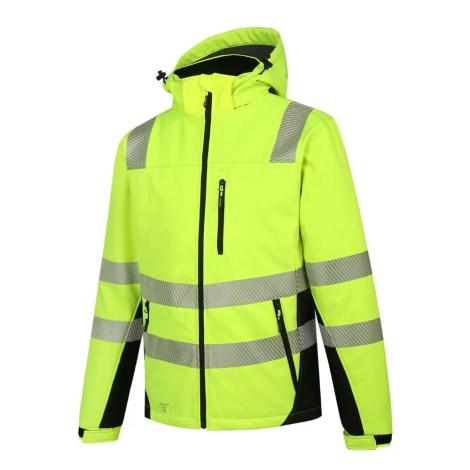 Winter Softshell Jacket Pesso Calgary Yellow En20471 Class 2 pessosafety.eu