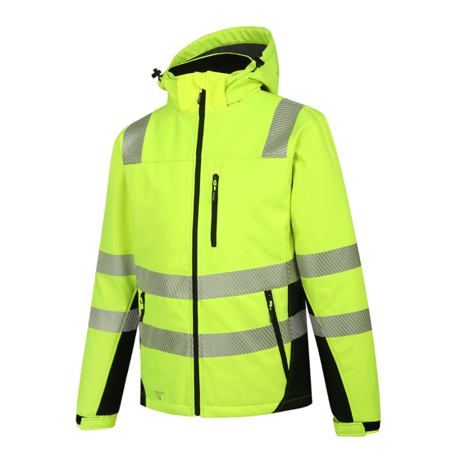 Winter Softshell Jacket Pesso Calgary Yellow En20471 Class 2 pessosafety.eu