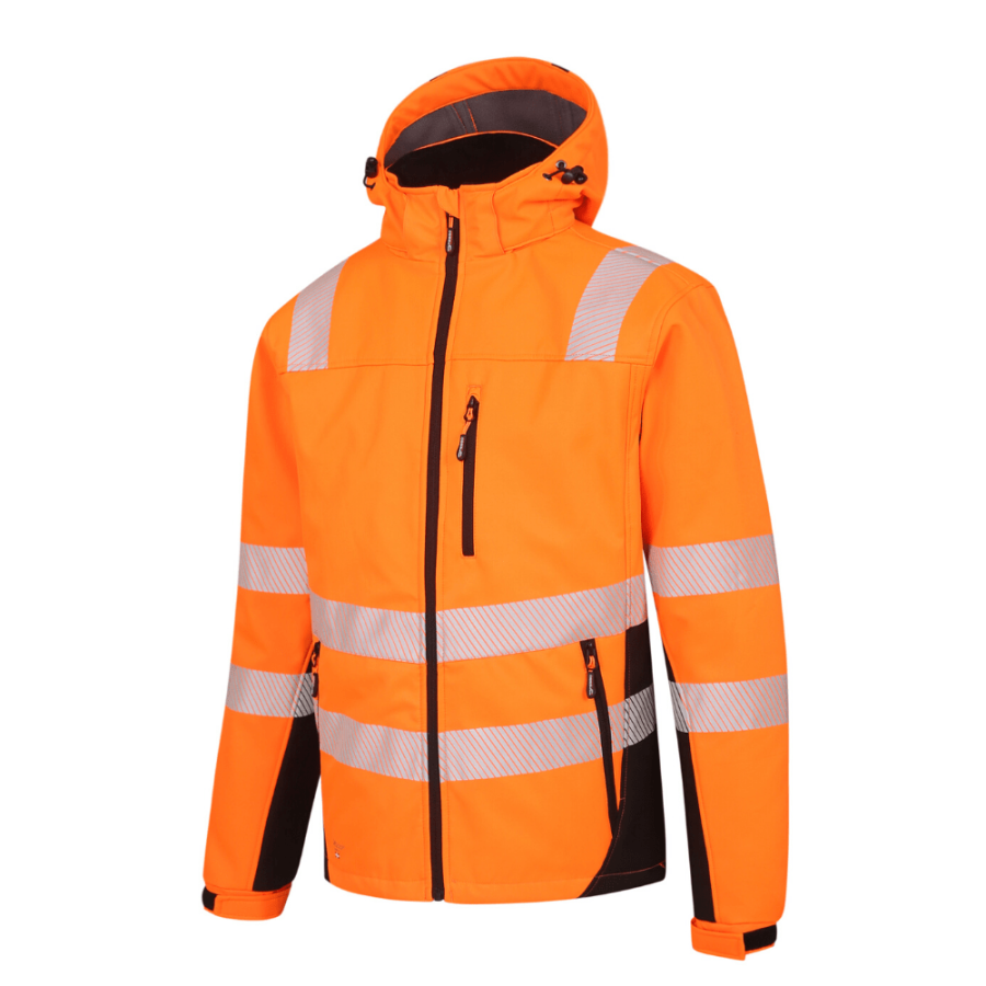Winter Softshell Jacket Pesso Calgary Orange En20471 Class 2 pessosafety.eu