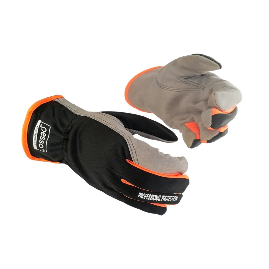 Synthetic leather winter gloves Pesso Alaska | pessosafety.eu