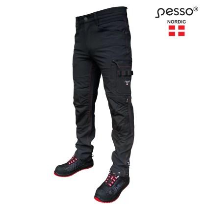 Workwear trousers Pesso Nordic Mercury Stretch, black | pessosafety.eu
