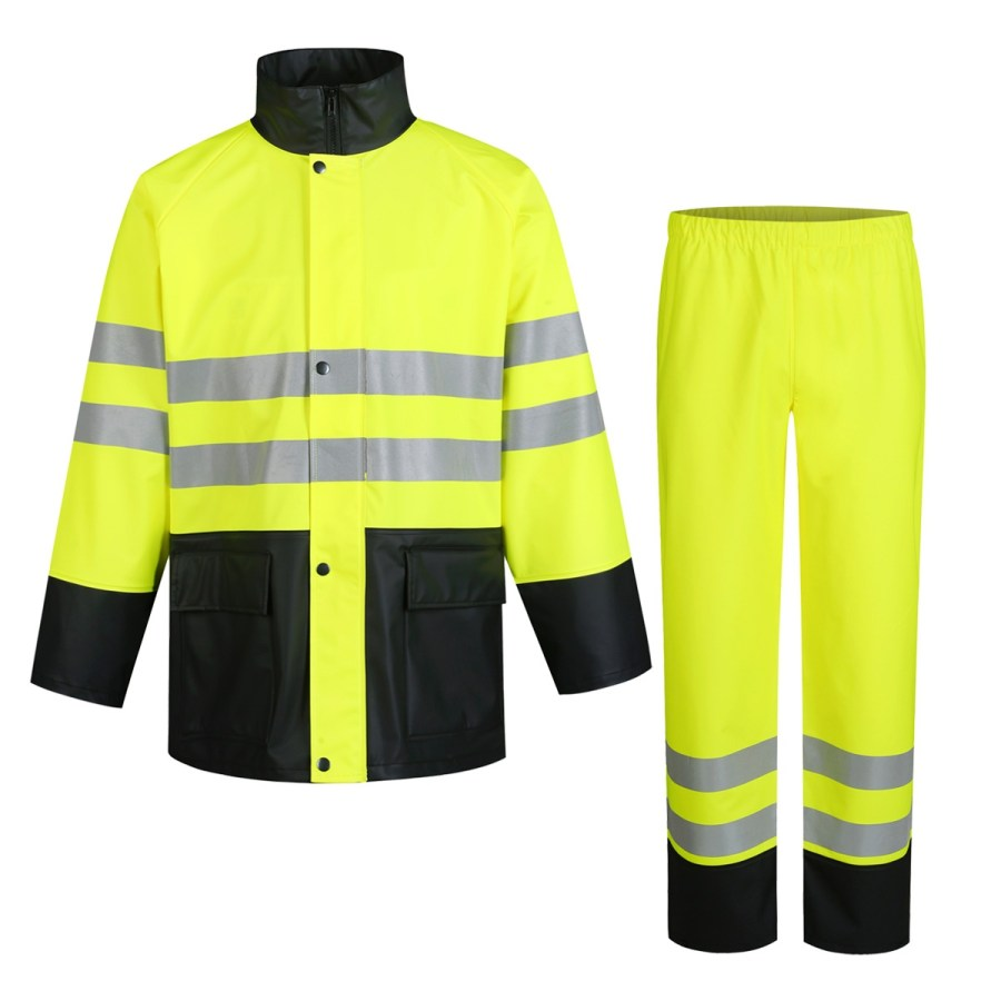 Workwear rain costume Pesso Nordic GPUHV3205, High visibility yellow EN20471 Class 2 pessosafety.eu