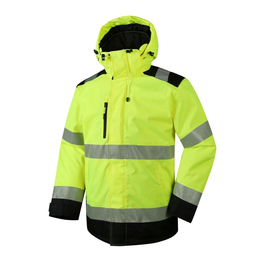 Windproof, waterproof, breathable, jacket Pesso ARIZONA HI VIS pessosafety.eu
