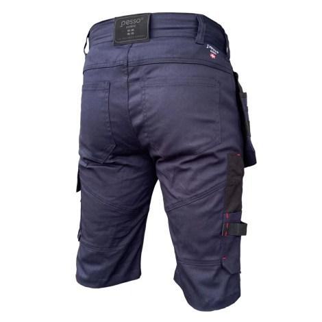 Workwear pirate shorts Pesso Stretch 215, navy Pesso Workwear pessosafety.eu