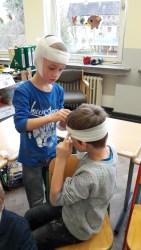 auch Kopfwunden können Kinder verbinden