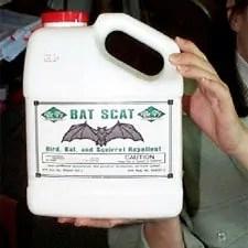 Chemical repellents: Dr. T's Bat Scat the best bats control product