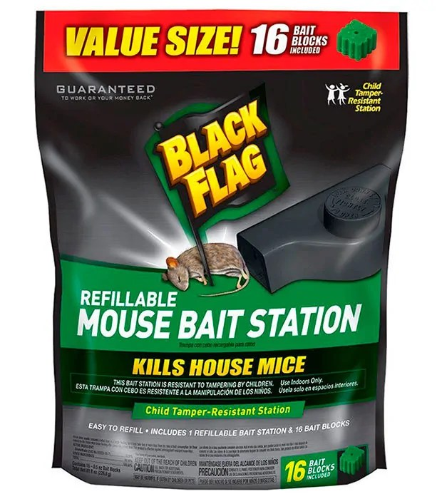 Refillable Mouse Bait Station by Black Flag