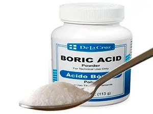 Spoon of sugar and Boric acid