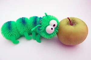 Centipede and apple