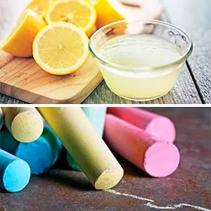 Chalk and lemon