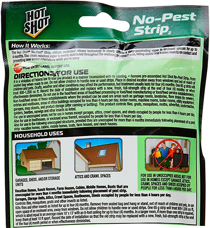 No-Pest Strip by Hot Shot Instruction
