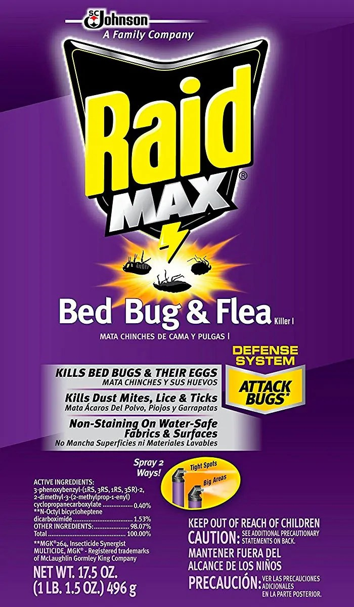Raid Max active ingredients