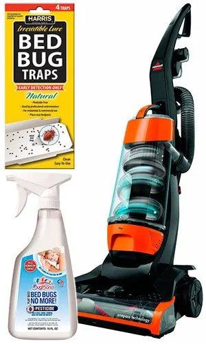 Spray, traps and vacuum
