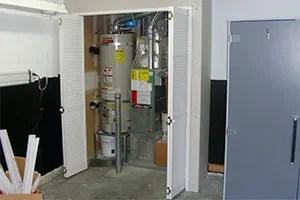 Mice in water heater closet