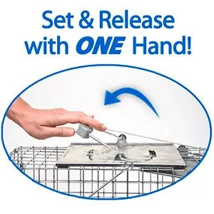 Select and release a trap with one hand