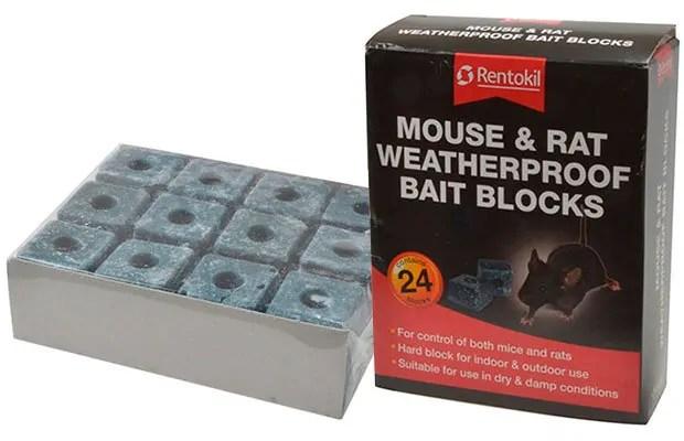 Mouse & Rat Waterproof Bait Blocks by Rentokil