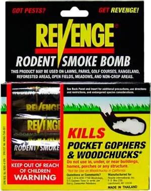 REVENGE: Rodent smoke bomb