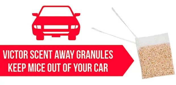 Scent away granules for car by Victor