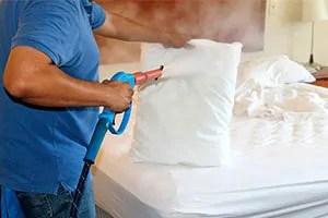 Steam a pillow