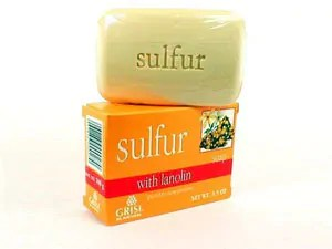 Effective sulphur soap