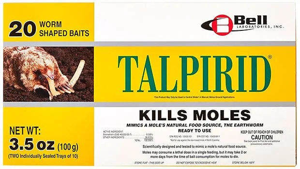 TALPIRID for kills moles with Bromethalin