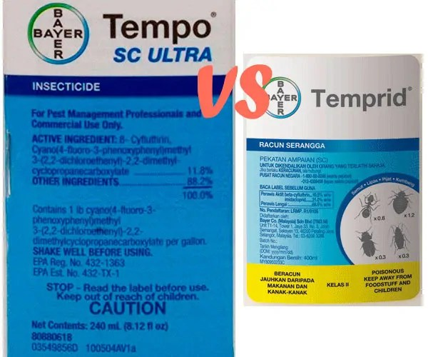 Tempo SC Ultra vs Temprid Instructions