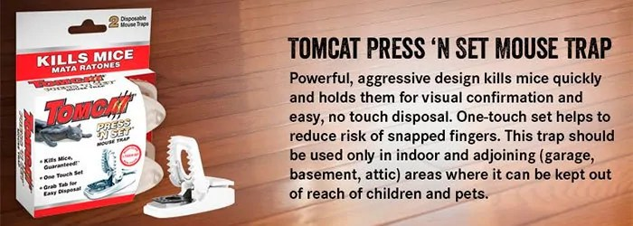 Tomcat Press 'N Set Mouse Trap Instruction