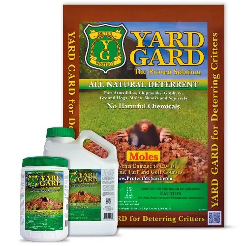 Natural mole deterrent by Yard Guard