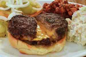 Cheese stuffed burger