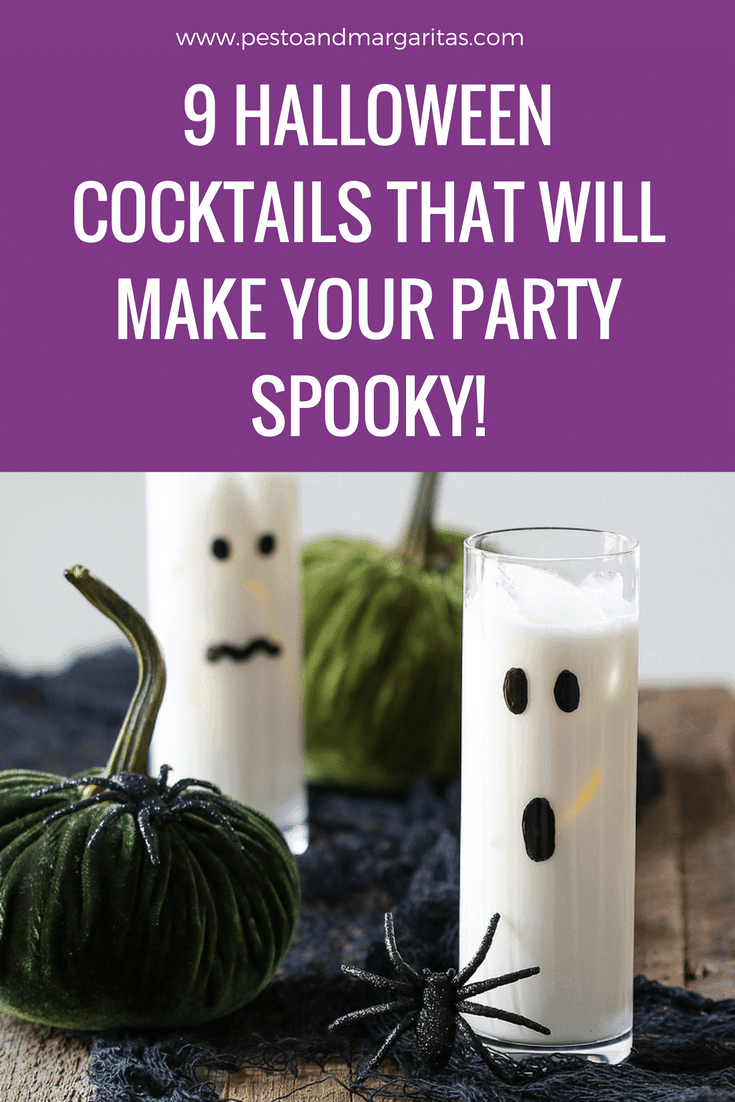Cocktails are a great part of a Halloween party and here are 9 spooky recipes to serve to your guests - well, the adult ones anyway!