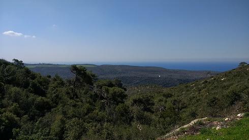 שמורת הר הכרמל מביטה לכוון דרום מערב
