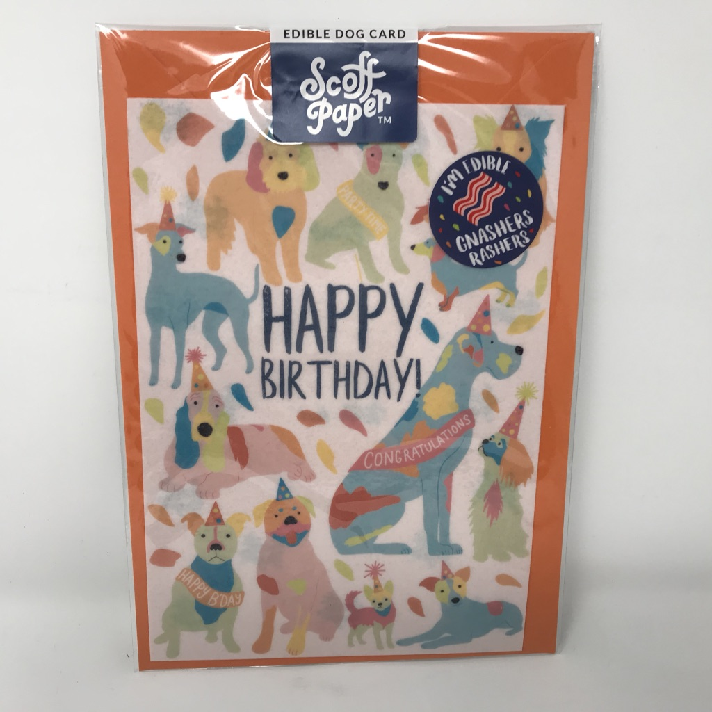 Flavoured Edible Birthday Card For Dogs Free Shipping Pet Presents