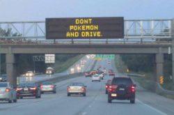 車運転中にポケモンGOを禁じる掲示板